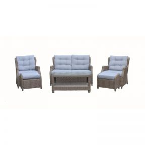FP Collection Harrington Outdoor 4 Seater Lounge Setting
