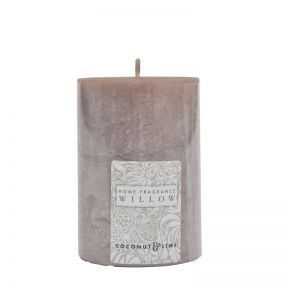 FP Collection Willow Coconut & Lime Pillar 300g Candle Grey
