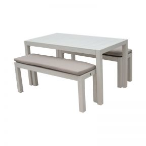FP Collection Resort Outdoor Bench/Dining Setting