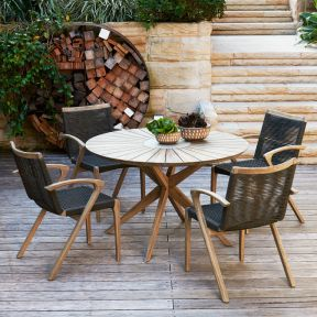 FP Collection Berlin Outdoor 4 Seater Dining Setting
