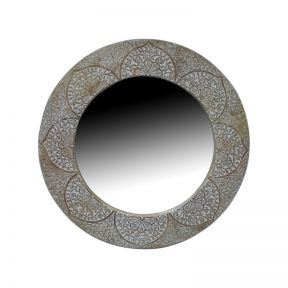 FP Collection Tahlia Timber Round Wall Mirror