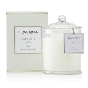 Glasshouse Marseille Gardenia 350g Candle