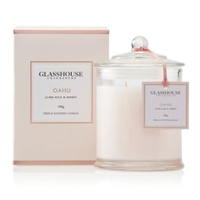 Glasshouse Oahu Ilima Milk & Honey 350g Candle