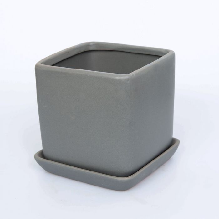 FP Collection Asha Planter Charcoal  No] 164879P - Flower Power