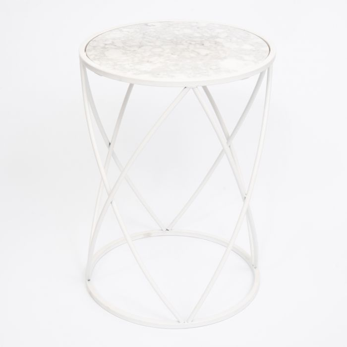 FP Collection Indoor Marble Side Table  No] 168323 - Flower Power