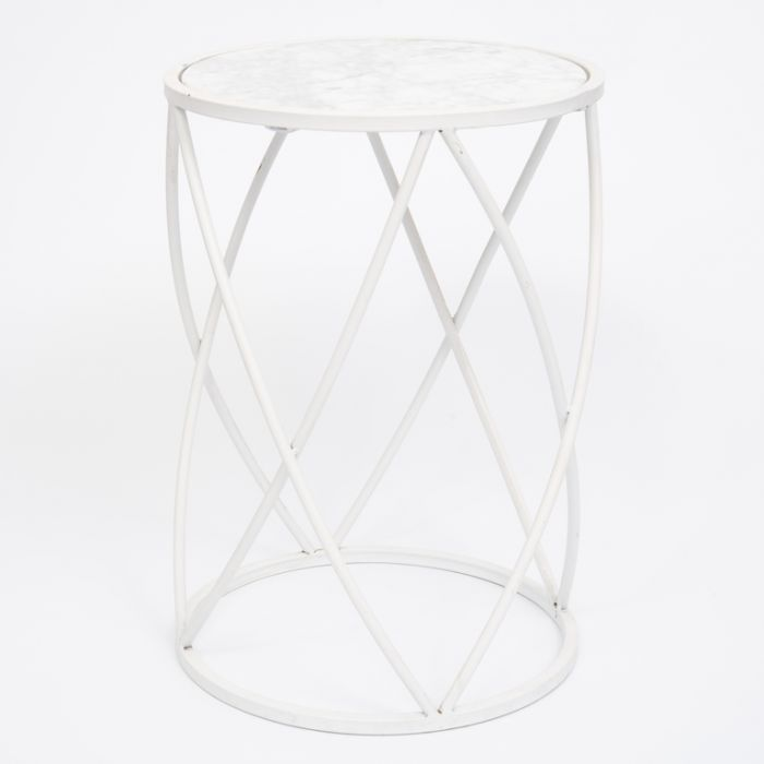 FP Collection Indoor Marble Side Table  No] 168324 - Flower Power