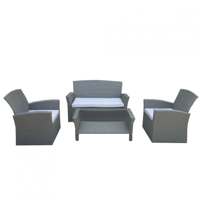 FP Collection Lochlan Outdoor 4 Seater Lounge Setting  No] 171974 - Flower Power