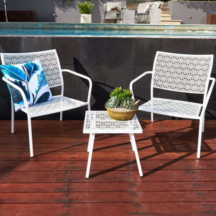 FP Collection Alfresco Outdoor 2 Seater Balcony Setting color No 175140