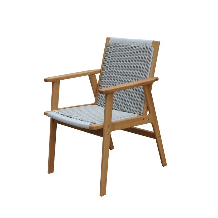 FP Collection Leura Outdoor Dining Wicker Chair color No 177279