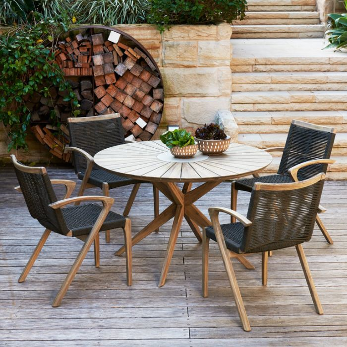 FP Collection Berlin Outdoor 4 Seater Dining Setting color No 177863