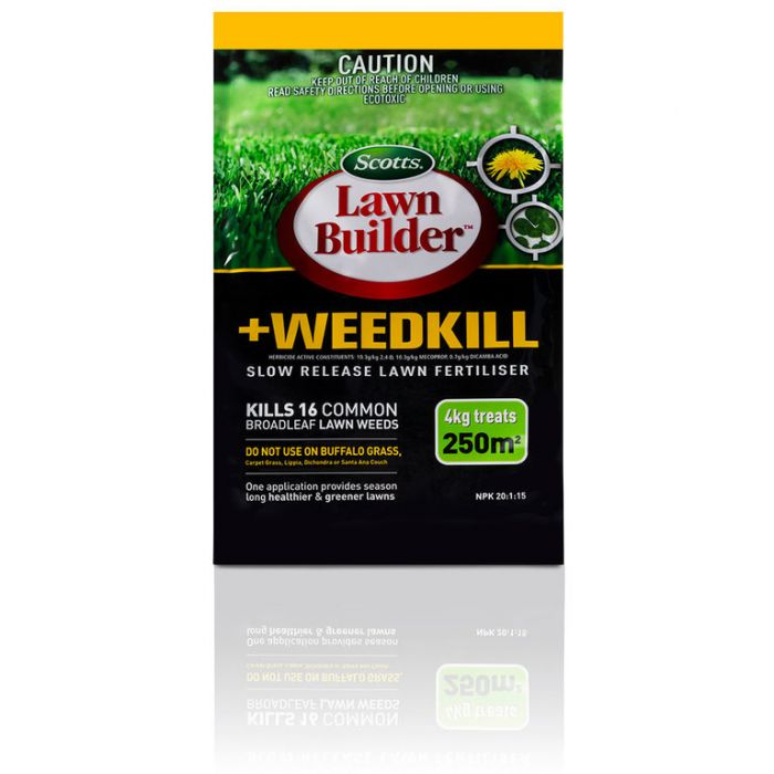 Lawn Builder  + Weedkill Slow Release Lawn Fertiliser 4kg  No] 9311105001351 - Flower Power