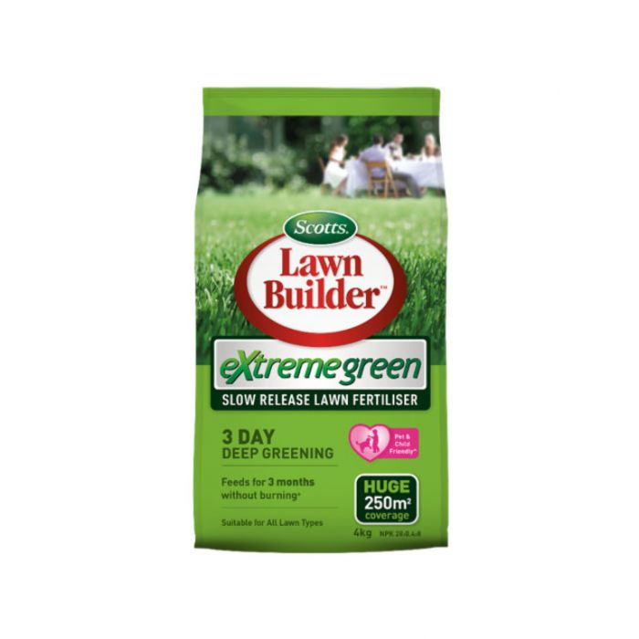 Lawn Builder  Extreme Green Lawn Fertiliser 4kg  No] 9311105005489 - Flower Power
