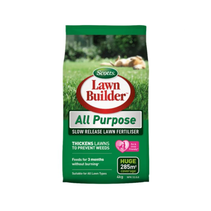 Lawn Builder  All Purpose Slow Release Lawn Fertiliser 4kg  No] 9311105005519 - Flower Power