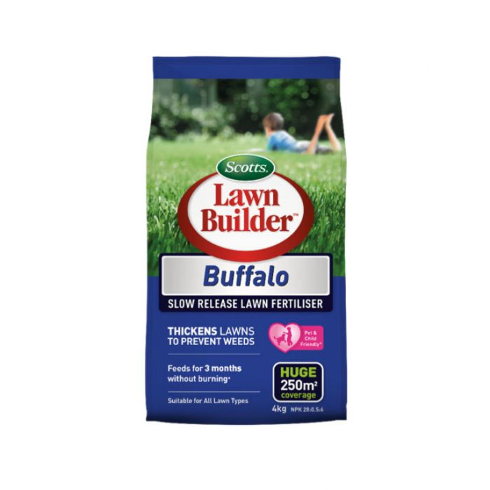Lawn Builder  Buffalo Slow Release Lawn Fertiliser 4kg  No] 9311105005540 - Flower Power