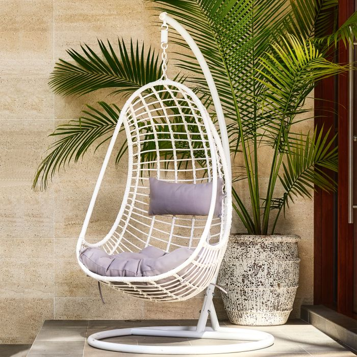 FP Collection Hayman Outdoor Hanging Chair White  ] 165452 - Flower Power