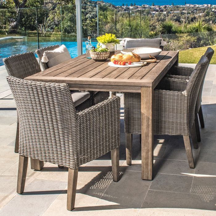 FP Collection Dune Outdoor Dining Table Grey  ] 175010 - Flower Power