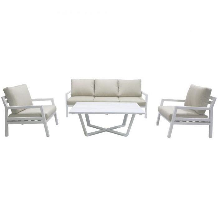 FP Collection Lagoon Outdoor Lounge Setting White  ] 176517 - Flower Power