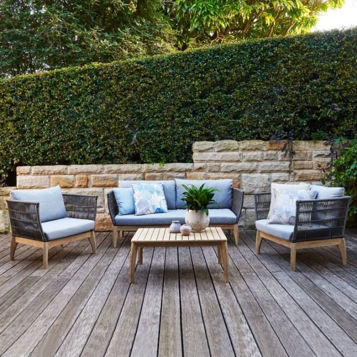 FP Collection Brighton Outdoor Lounge Setting Grey  ] 177281 - Flower Power