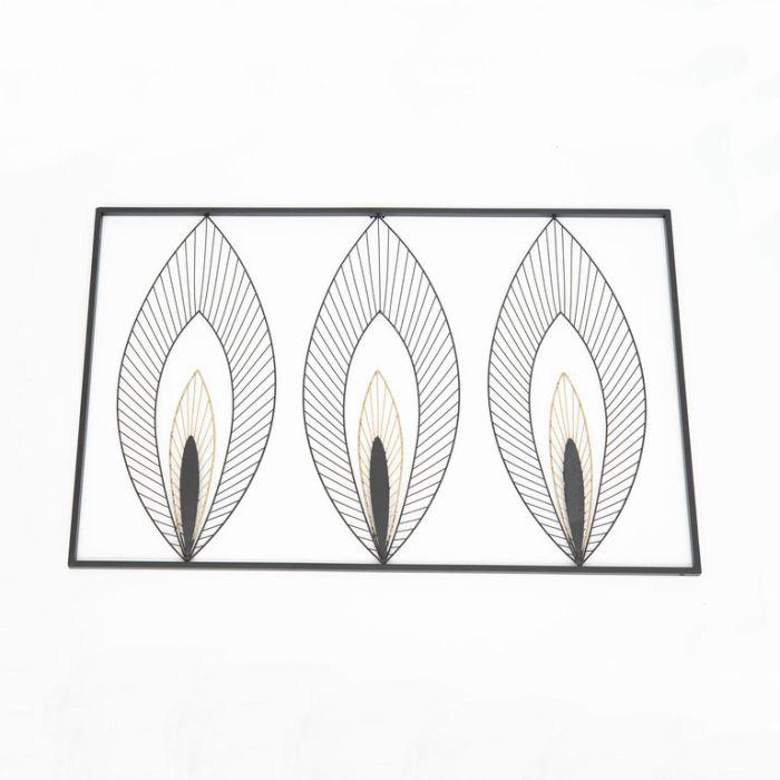 FP Collection Art Deco 3 Leaf Metal Wall Art  ] 177427 - Flower Power