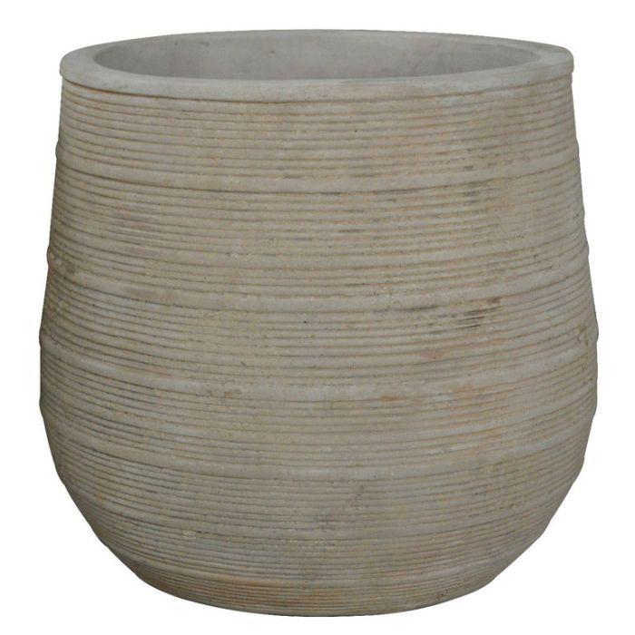 FP Collection Antique Tuscan Drum Pot  ] 178335P - Flower Power