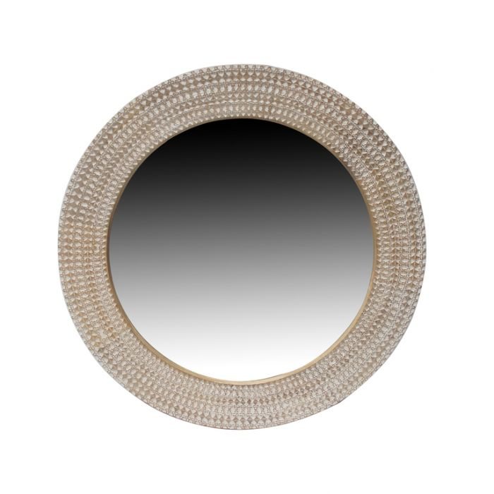 FP Collection Priya Carved Round Mirror  ] 180193 - Flower Power