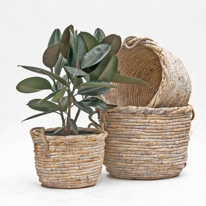 FP Collection Malia Basket White  ] 182396P - Flower Power