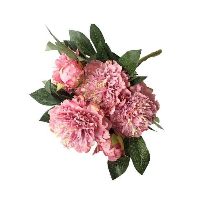 FP Collection Artificial Peony Bouquet Pink  ] 182682 - Flower Power