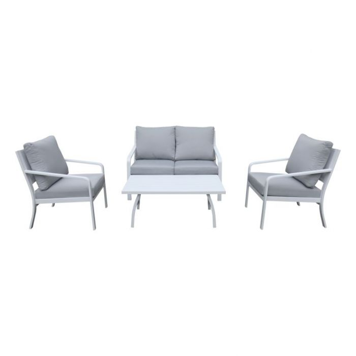 FP Collection Byron Outdoor Lounge Setting White  ] 184738 - Flower Power