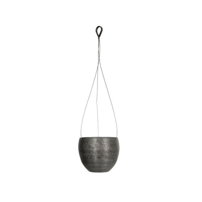 FP Collection Ada Hanging Planter Black  ] 184789P - Flower Power