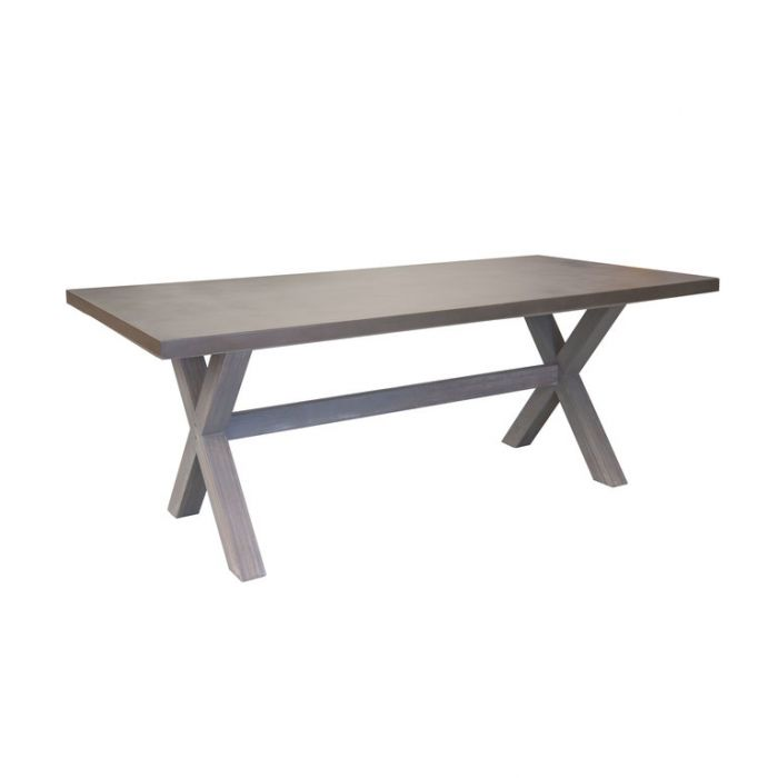 FP Collection Industry Outdoor 6 Seater Dining Table  ] 185124 - Flower Power