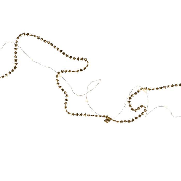 FP Collection Christmas Garland Golden Stars  ] 185187 - Flower Power