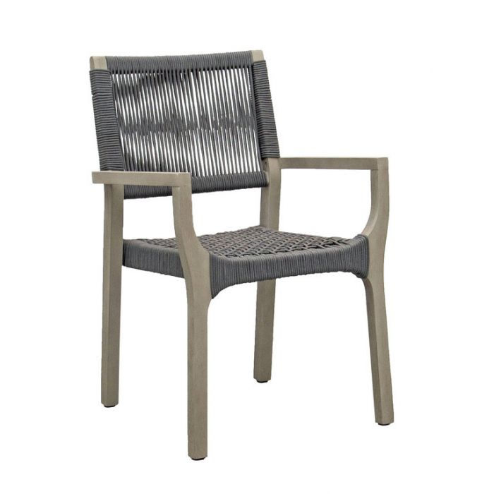 FP Collection Bronson Outdoor Dining Chair Grey  ] 185205 - Flower Power
