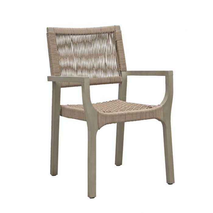 FP Collection Bronson Outdoor Dining Chair Taupe  ] 185206 - Flower Power