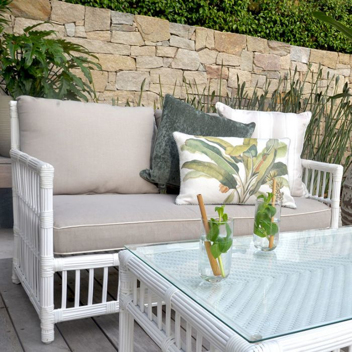 FP Collection Hamptons Outdoor 2 Seater Lounge  ] 185871 - Flower Power