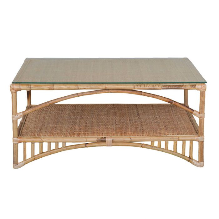FP Collection Lanai Cane Coffee Table  ] 185883 - Flower Power