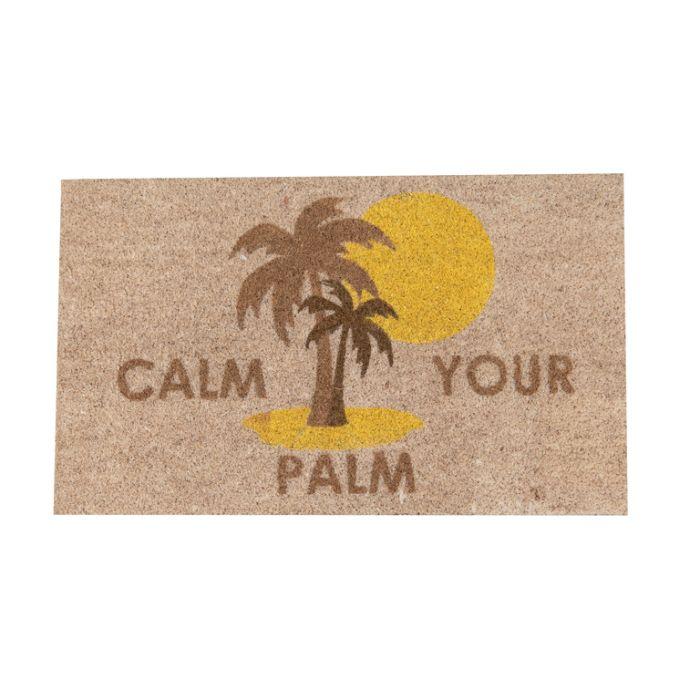 FP Collection Door Mat Calm Your Palm  ] 187241 - Flower Power