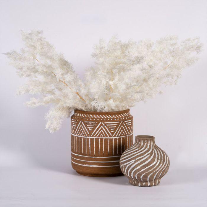 Dried Ming Fern White  ] 187993 - Flower Power