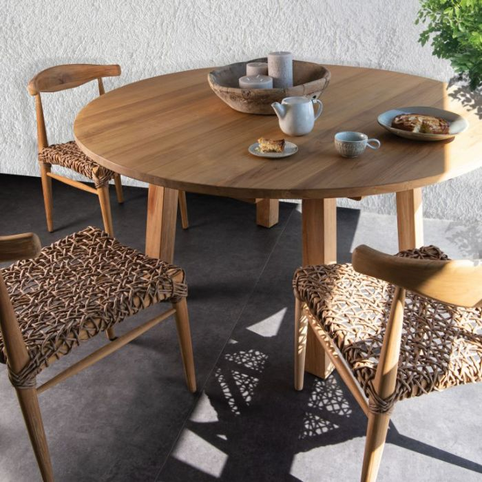 FP Collection Cayman Round Dining table  ] 189226 - Flower Power