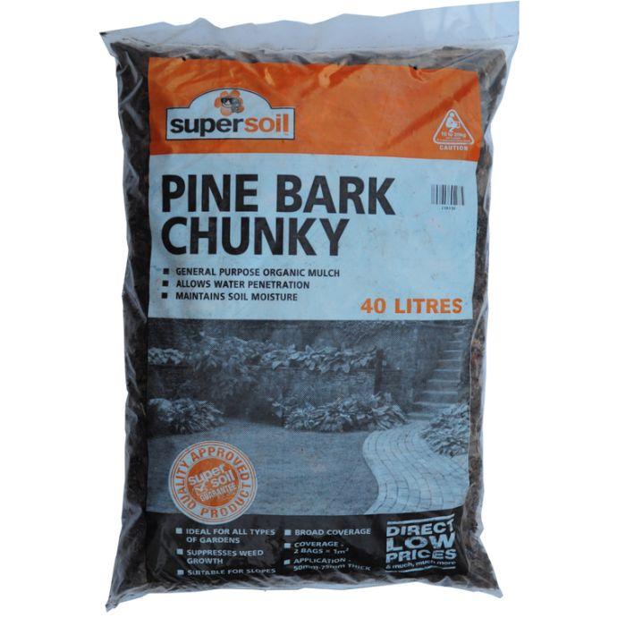 Pinebark Chunky Mulch Bag  ] 238530 - Flower Power