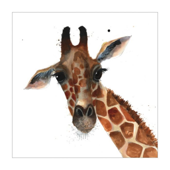 Almanac Gallery Giraffe Card  ] 5015433629662 - Flower Power