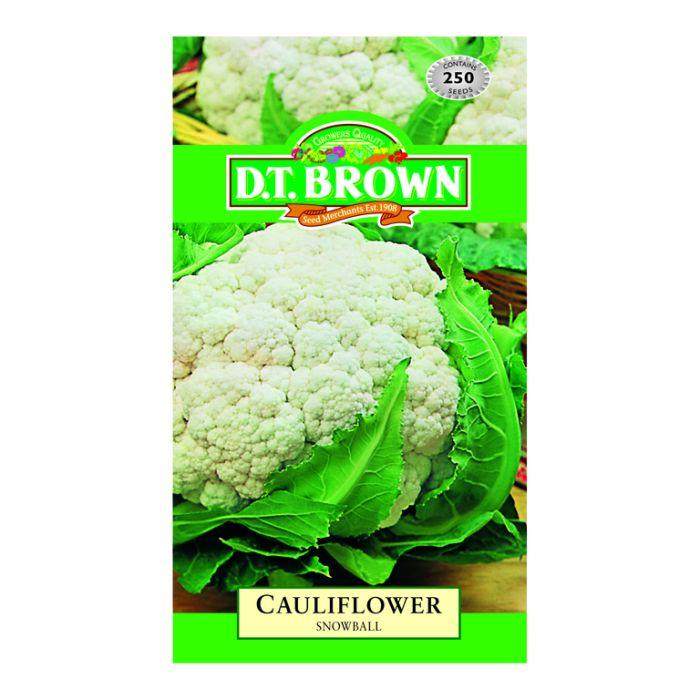 D.T. Brown Cauliflower Snowball  ] 5030075022572 - Flower Power