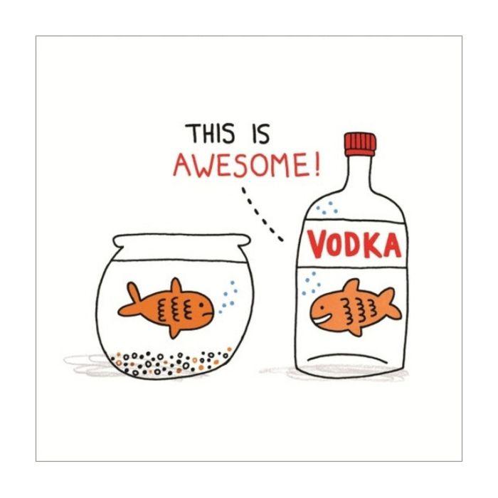 Almanac Gallery Vodka Goldfish Card  ] 5060415833735 - Flower Power