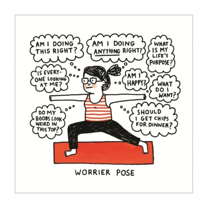 Almanac Gallery Worrier Pose Card  ] 5060415833988 - Flower Power