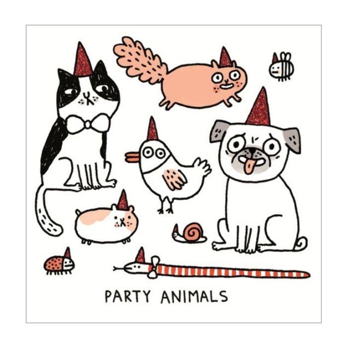 Almanac Gallery Party Animals Card  ] 5060415834220 - Flower Power