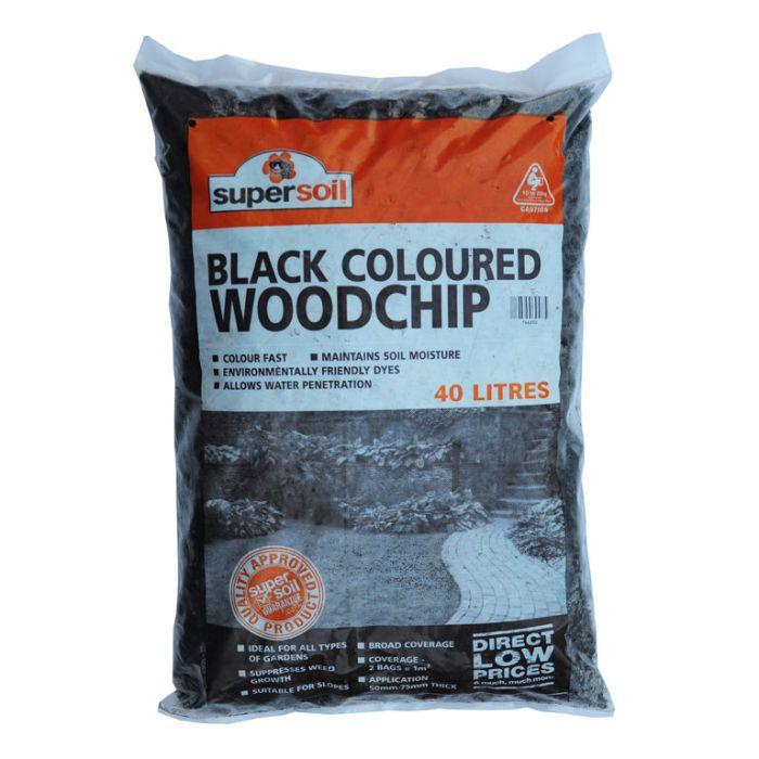 Supersoil Black Coloured Woodchip Bag  ] 746250 - Flower Power