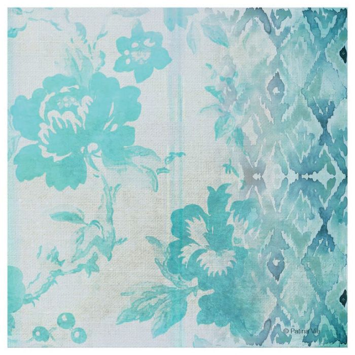 Thirstystone Coaster Collections Teal Floral Façade  ] 795785328806 - Flower Power