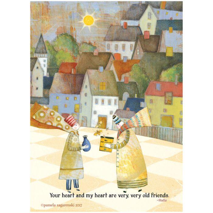 Almanac Gallery Old Friends Card  ] 810028172029 - Flower Power
