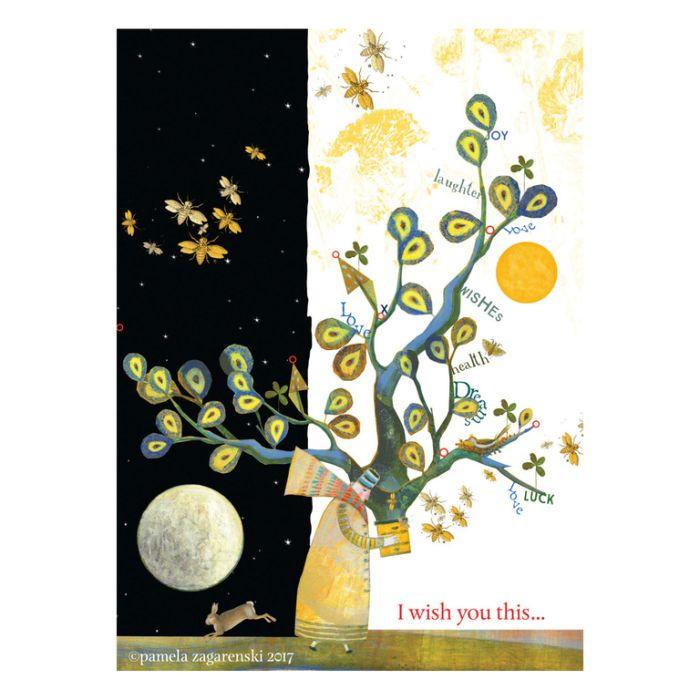 Almanac Gallery Wish Card  ] 810028174085 - Flower Power