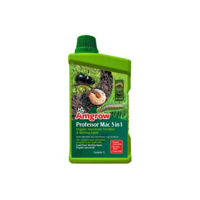 Amgrow Professor Mac 3 in 1 Organic Insecticide, Fertiliser & Wetting Agent 1L  ] 9310943824351 - Flower Power