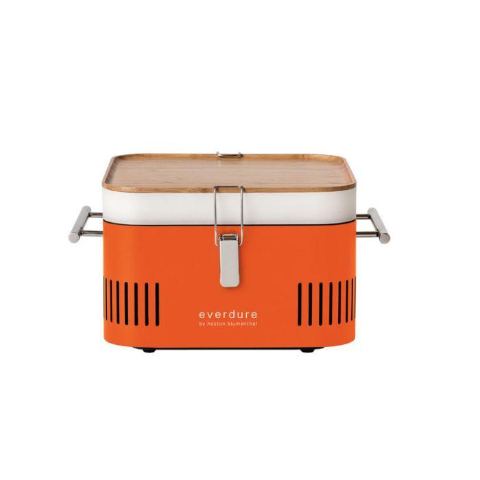 Everdure Cube Charcoal Portable BBQ Orange  ] 9312646023536 - Flower Power